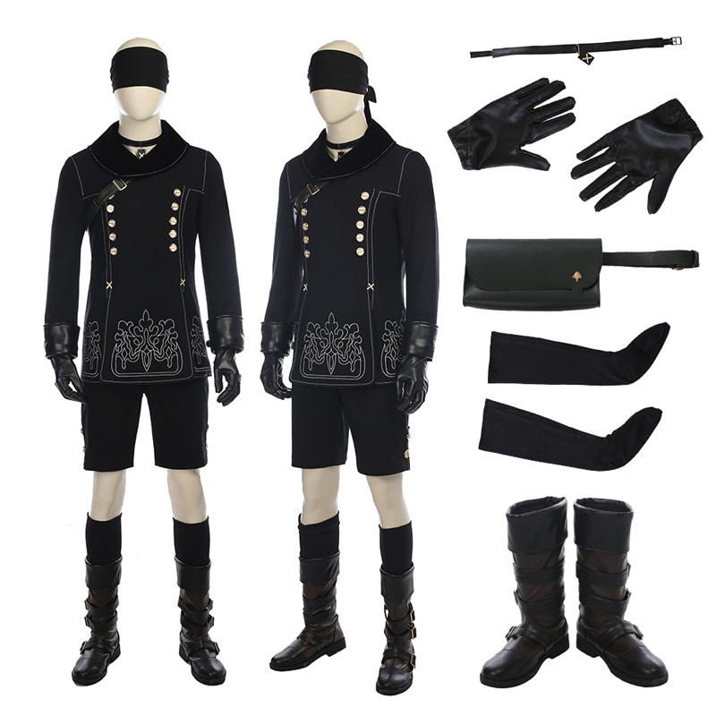 NieR Automata Cosplay Costume Game Anime Neil YoRHa No. 9 Type S Cosplay Costume For Halloween Costume for Men Adult Suit