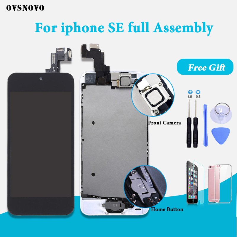 Good quality Full Set LCD Screen For iPhone SE A1723 A1662 A1724 Display Complete Assembly Touch Digitizer Replacement pantalla-in Mobile Phone LCD Screens from Cellphones & Telecommunications