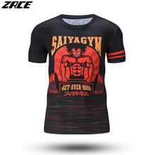 Dragon Ball Z Anime 3d Print Fashion O-neck Casual Men's T-shirt