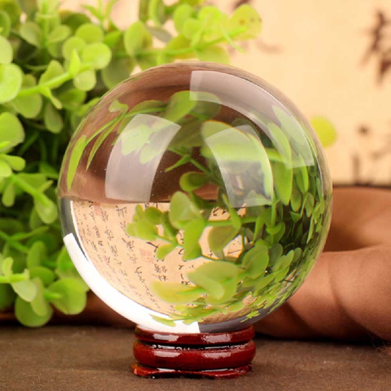 40мм Magic Clear Crystal Ball FengShui Home Decorative Quartz Balls Photography Glass Crystals қолөнер саяхат Саяхат сыйлық алыңыз