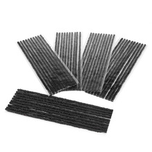 Car Styling 50pcs Black Tubeless Tyre Tire Puncture Repair Seal Rubber Strips Car Motorcycle 200*3.5mm