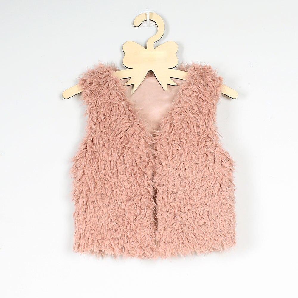Competent Arloneet Kid Baby Meisje Herfst Winter Faux Bont Vest Dikke Jas Warm Uitloper Kleding L1018 Om Een Hoge Bewondering Te Winnen