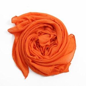 Image 4 - Mode Weiche Baumwolle Leinen Grau Hijabs Musilim Islamische Frauen Schal Feste Große Größe Schöne Damen Shaw Schals Kostenloser Versand