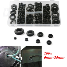 лучшая цена 180pcs Rubber Grommet Car Hole Sleeve Plug Electrical Wire Protector Gasket Seal For Cylinder Valve Water Pipe