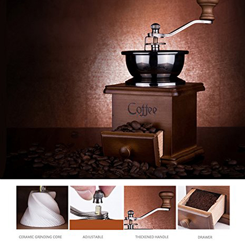 Manual Coffee Grinder, Hand Coffee Beans Grinding Machine, Hand Coffee Burr Mill, Manual Bean Grinder jiqi coffee grinder hand grinder household coffee beans grinding machine manual coffee machine grinder best gift for coffe lover