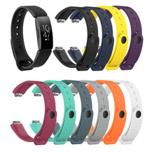 Replacement Watch Bands Accessories Soft Adjustable Waterproof Silicone Straps Wristbands For Fitbit Inspire/Inspire HR 1EH