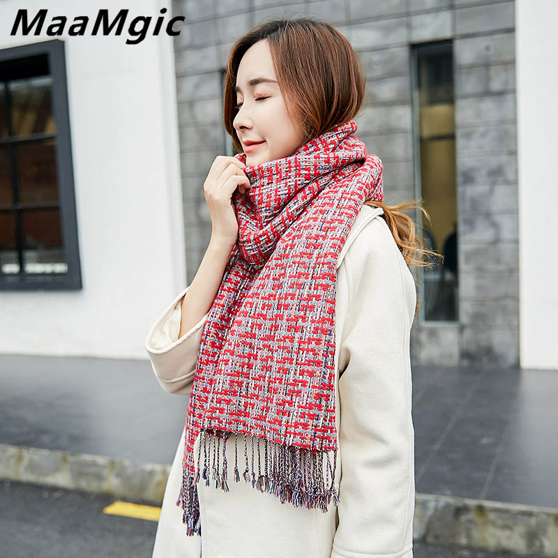 2017 New Fashion Women Scarf Cashmere Solid Tassel Comfortable Women Scarves Winter Warm Scarf Girl Scarf Size180X65 wholesale