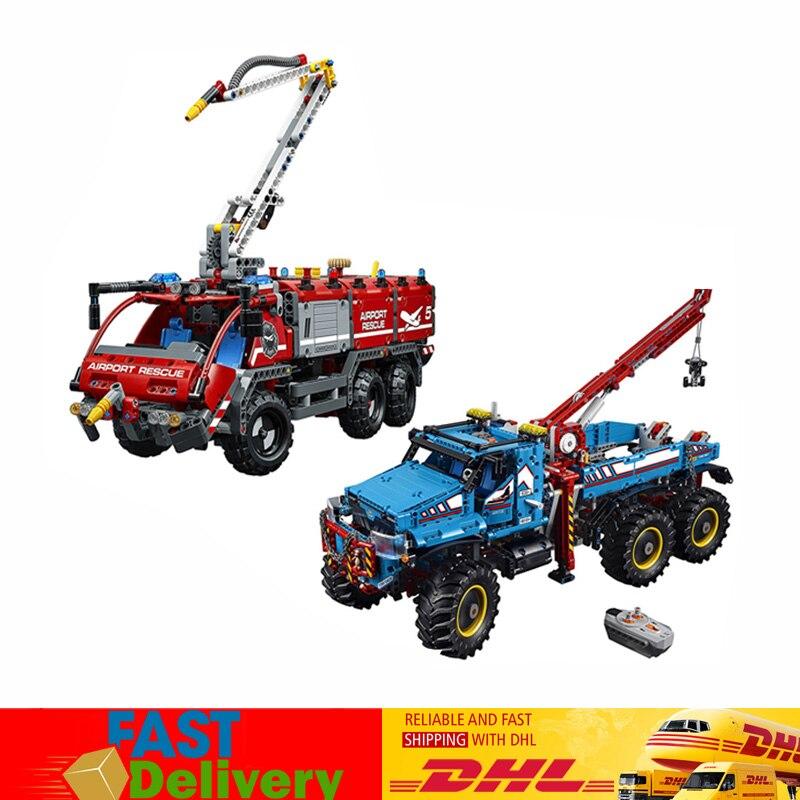Lepin Technic série Set 20055 + 20056 ultime tout Terrain modèle blocs briques noël jouets Compatible LegoINGlys 42070 42068