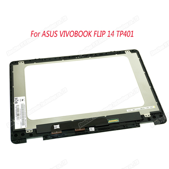New original 14'' For ASUS VIVOBOOK FLIP 14 TP401 TP401N lcd display touch screen lcd assembly With frame