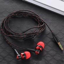 Neue 3,5 MM 5 Farben Stereo In Ohr Kopfhörer Hohe Qualität Geflochtene Seil Shell Design Ohrhörer Doppel Ohrhörer Metall headset Mit Mic