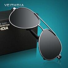 VEITHDIA hombres Gafas de Sol Marca Diseñador Piloto Masculinas Polarizadas Gafas de Sol Gafas gafas gafas de sol masculino Para Los Hombres 1306