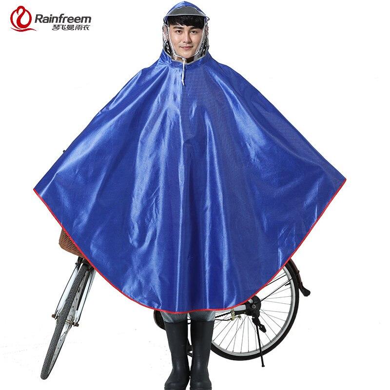 rainfreem impermeable raincoat womenmen thick bicycle rain poncho plaid jacquard women