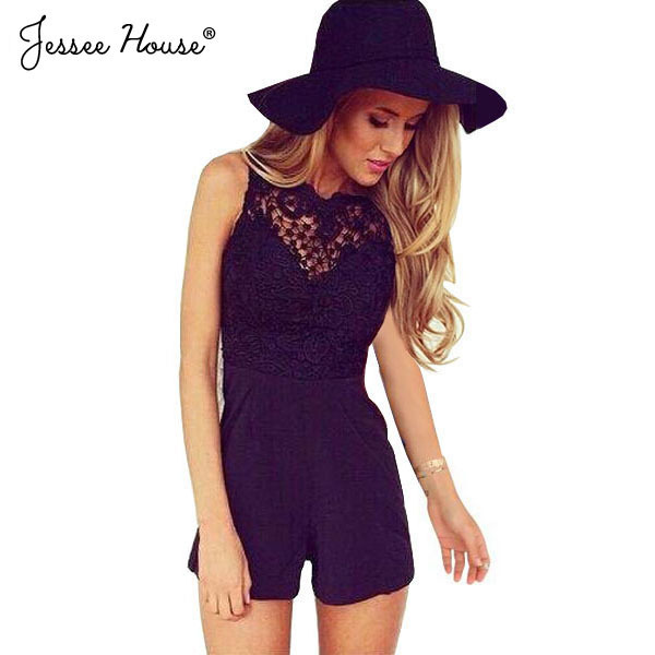 9111e8f4d90f Macacao Feminino Shorts Female Rompers Womens Jumpsuit Sexy Backless  Bodycon Lace One Piece Jumpsuits Overalls For Women 0512