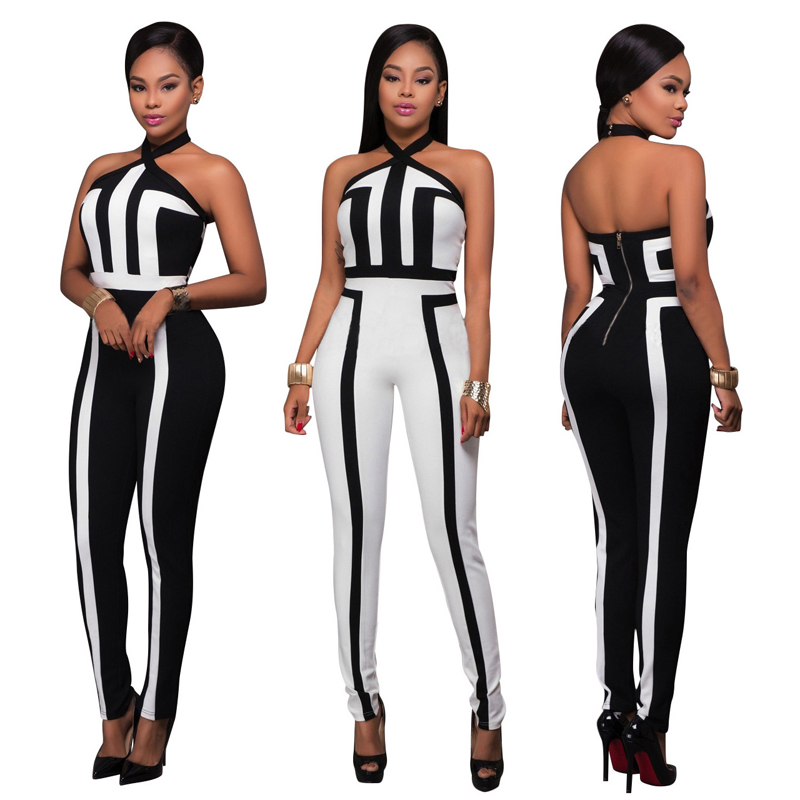 2019 Summer New Style African Women Clothing Dashiki Fashion Print Elastic Cloth Hanging Strip Sleeveless Black Jumpsuit 4 Color Price $12.01