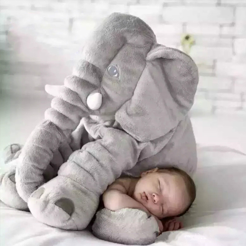 Hot Sale Free Shipping 55cm Colorful Giant Elephant Stuffed Animal Toy Animal Shape Pillow Baby Toys