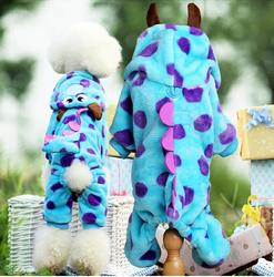 Soft Fleece Dog Cat Jumpsuit Halloween Coat Costumes Pet Overalls Puppy Cat Clothes for Small Cat Dog Pet
