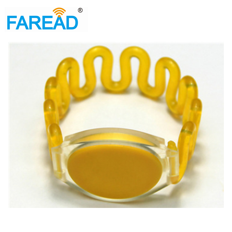 X100pcs Free Shipping 13.56MHz Ntag216   RFID Wristband  For Swimming Pool,  Sauna Bath Center