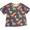 2016 verano estilo de la manera mujeres de la camiseta blusas Harajuku lindo dinosaurio de la historieta cubiertos sueltos en la t-shirt camisetas y tops