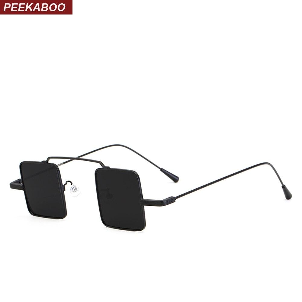 b1ad27475 Peekaboo pequeno quadrado óculos de sol dos homens do metal do vintage  frame 2018 lente óculos de sol pequeno amarelo preto vermelho para as  mulheres uv400 ...