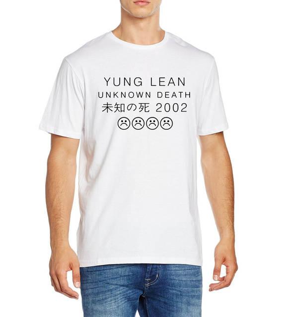 d22e63f54005 Camisetas de manga corta con cuello redondo para hombre y manga corta con  estampado de letra YUNG UNKNOWN DEATH tristes Boys camisetas de verano 2019  ...