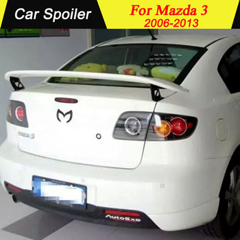 New design high quality Racing Wing Aluminum metal Bracket Stand Primer Color Spoiler for 2006 to 2013 mazda 3