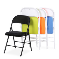 Metal Folding Chair Skin Friendly Breathable Mesh Folding Chair Backrest Chair Chair Conference Chair Computer