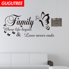 Decorate Home family buttlefly art wall sticker decoration Decals mural painting Removable Decor Wallpaper LF-498 new diy wallpaper mangnolia flowers wall painting stickers home decor decoration removable art decals dnj998