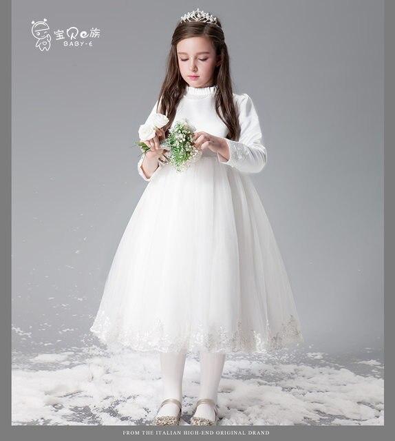 Online Shop White Gray Birthday Party Princess Dress Girls 11 Years