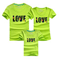 High quality family t-shirts cotton casual matching family clothes letters print mom dad son daughter sets outfits family look