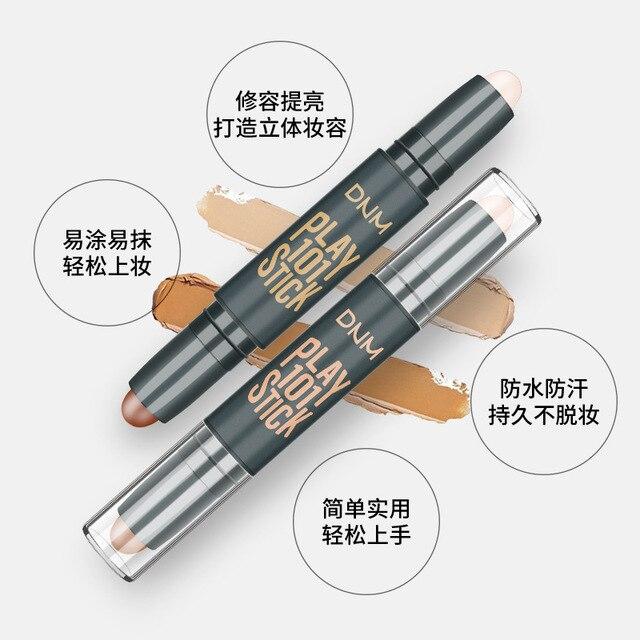Makeup Base Contour Eyes Concealer Cream Stick Bronzer Cover Dark Circle Highlighter Skin Brighten 2 Colors Make Up Primer 4