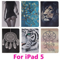Sexy Girl Flip Leather Tablet PC Case for Apple iPad 5 iPad Air Anti-Dust Cover Shell Protective Skin Bag Black and Pink Inside