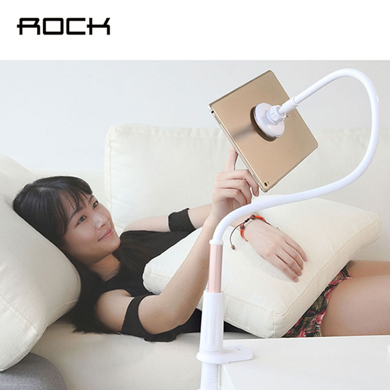 imágenes para Roca 360 Grados Flexible Brazo Tablet Soporte para Teléfono Perezoso Personas Cama Escritorio Magnética de Montaje Soporte Para Teléfonos Móviles Tabletas Pad