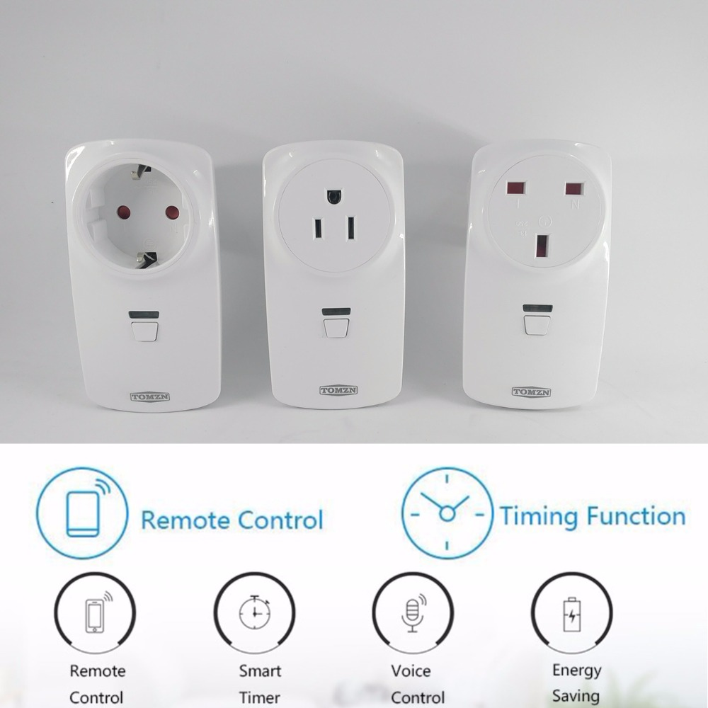 TOMZN Smart Home plug timer 16A wireless switch WIFI automation power socket by phone work with Alexa google Amazon духи 4711 10