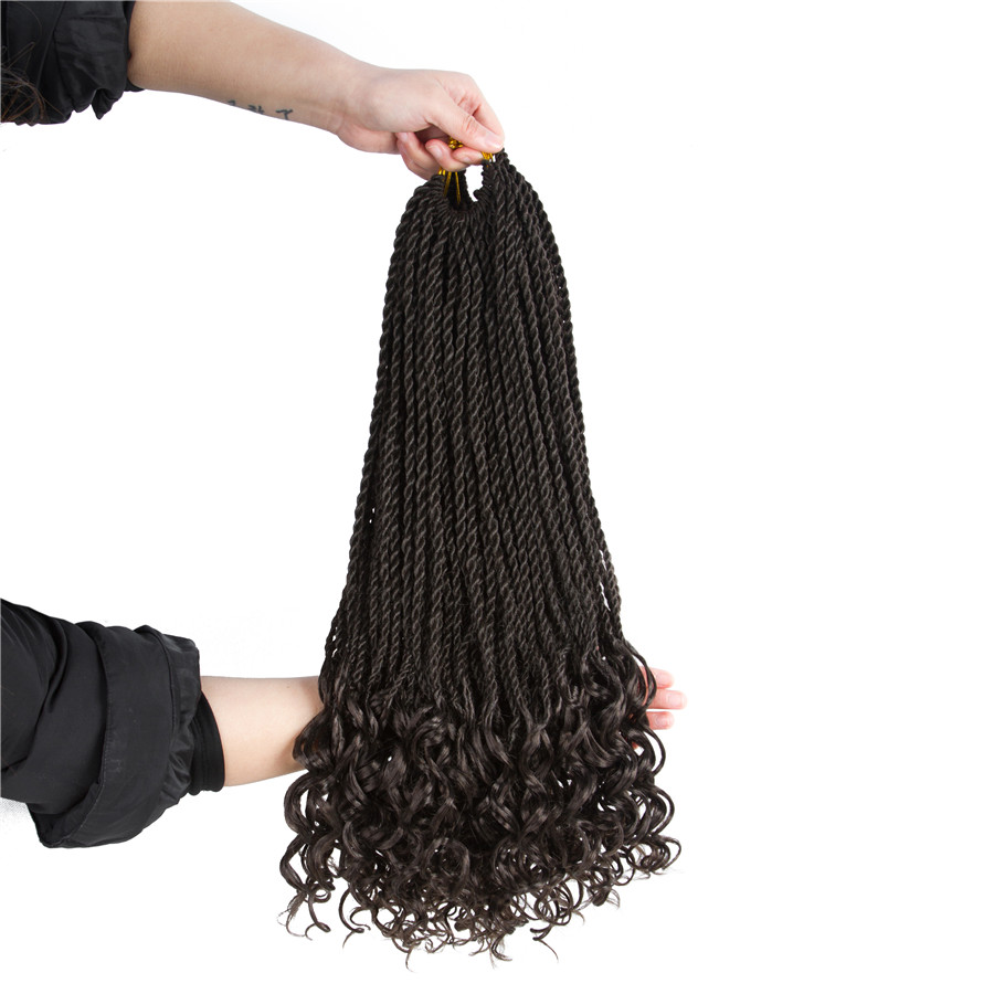 Elegant Muses 18inch Curly Senegalese Twist Crochet Braids Synthetic
