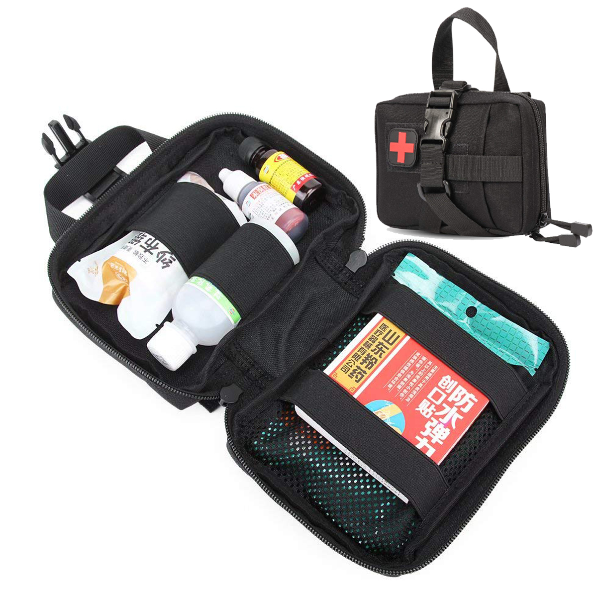 NylonTactical Molle Medical EMT Pouch Outdoor Military Tactics EDC Bag First Aid Pouch Rip-Away Emergency Utility IFAK Pack