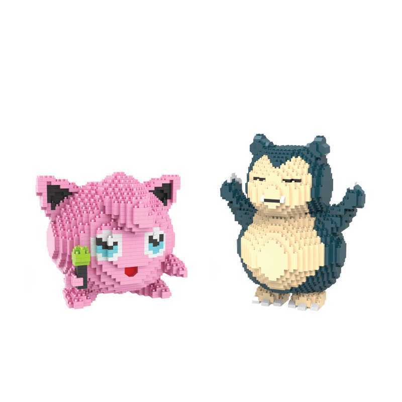 Hot Anime game image poke micro diamond building block big size snorlax Jigglypuff nanoblock assemble bricks toys for kids gifts