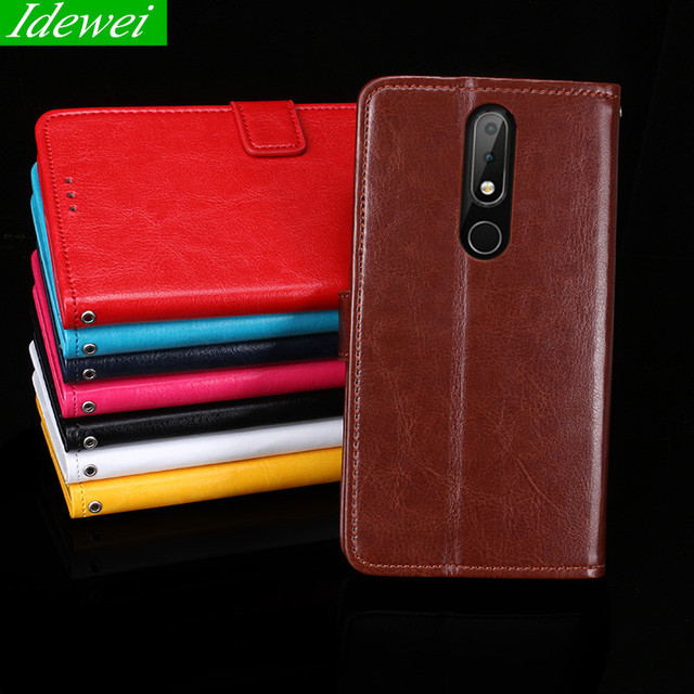hot sales 45067 b413f US $3.98 20% OFF For Nokia 5.1 Plus Case Nokia X5 2018 Case Luxury wallet  Leather Flip pouch For Nokia 5.1 Plus case cover X5 TA 1109 Case 5.86-in ...