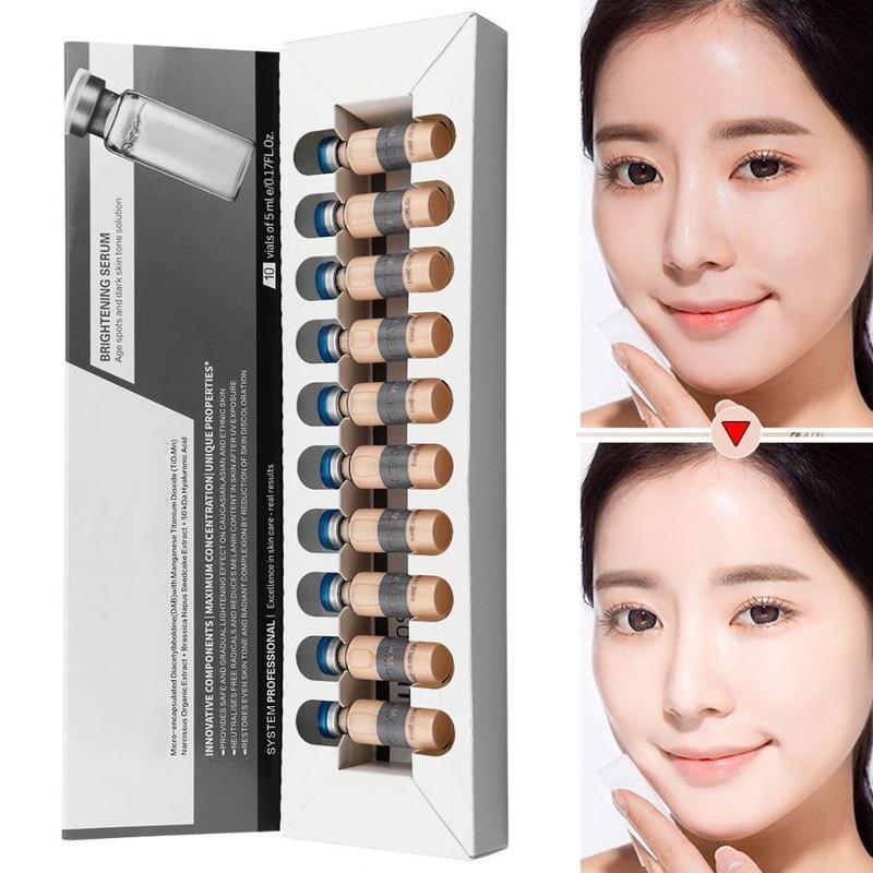 New 5ml *10 Skin Glow Cream Meso White Brightening Shrink Pores Repair Serum Natural Nude Concealer Make Up Residency Foundation