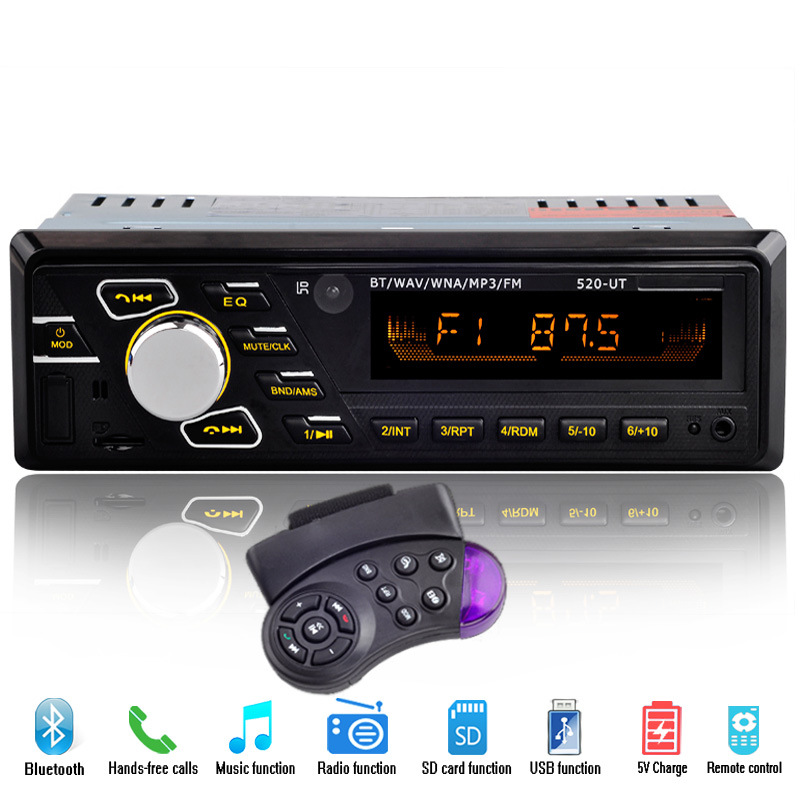 7388 IC Car Radio Stereo Player Digital Bluetooth Car MP3 Player 60Wx4 FM Radio Stereo Audio Music USB/SD with In Dash AUX Input image
