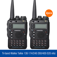 2 Teile/los UV8DR 3 Bands Walkie Talkie 136-174/240-260/400-520 mhz Radio Talkie Walkie Sender Handheld CB Radio