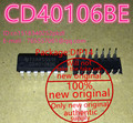 100% New imported CD 40106 CD40106BE six Schmitt trigger DIP-14 IC chip