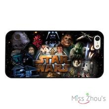 Star Wars Characters Collage back skins mobile cellphone cases for iphone 4 4s 5 5s 5c