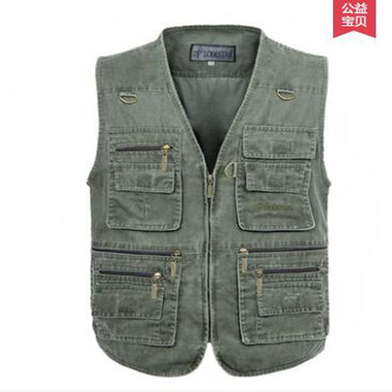 Summer casual men vest Plus Size Vest Men Multi Pocket  New Arrival Multi-pockets Photography Cameraman size S-7XL