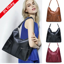 2019 vintage Black women PU leather handbags luxury designer shoulder bags high quality brand crossbody bags women bolso mujer