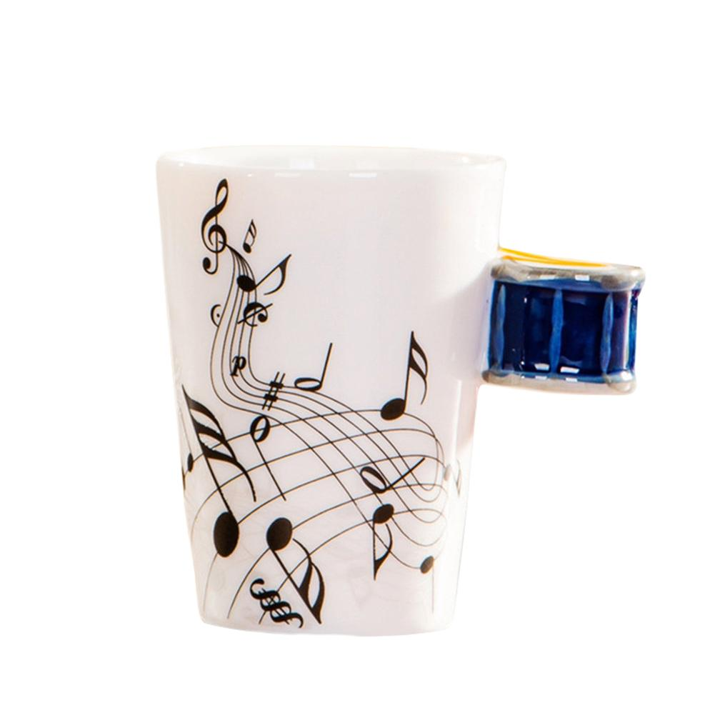 Ceramic Musical Instrument Drum Shaped Mugs Coffee Cups Innovative Christmas Gift Fashion Newfangled Daily Mugs Coffee Cups