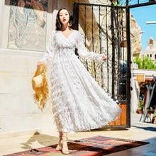 2de4c8183cfc53 YOSIMI 2019 Frühling Sommer Lange Frauen Kleid für Frauen Abend Party  FemaleVestido Maxi Vintage Weiß Kleid