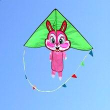 Высокое качество счастливый кролик воздушный змей детей летучие змеи с ручкой линии наружной игрушки змеи завод Альбатрос воздушных змеев