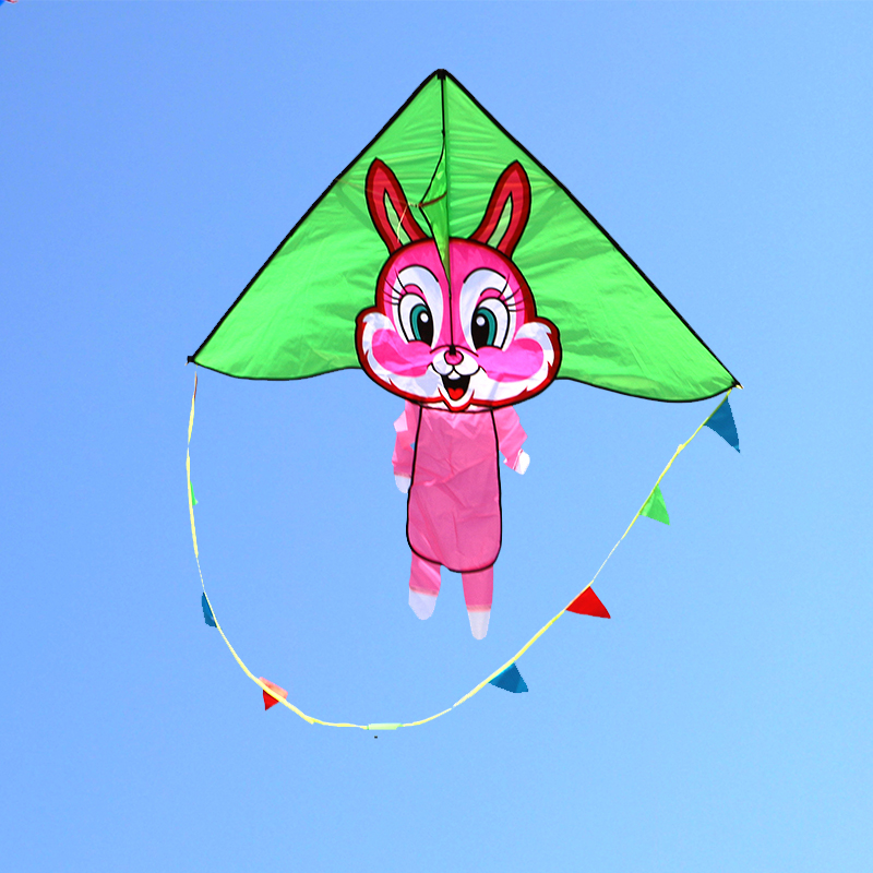 free shipping high quality happy rabbit kite flying children kites with handle line outdoor toys kites factory albatross kitesfree shipping high quality happy rabbit kite flying children kites with handle line outdoor toys kites factory albatross kites