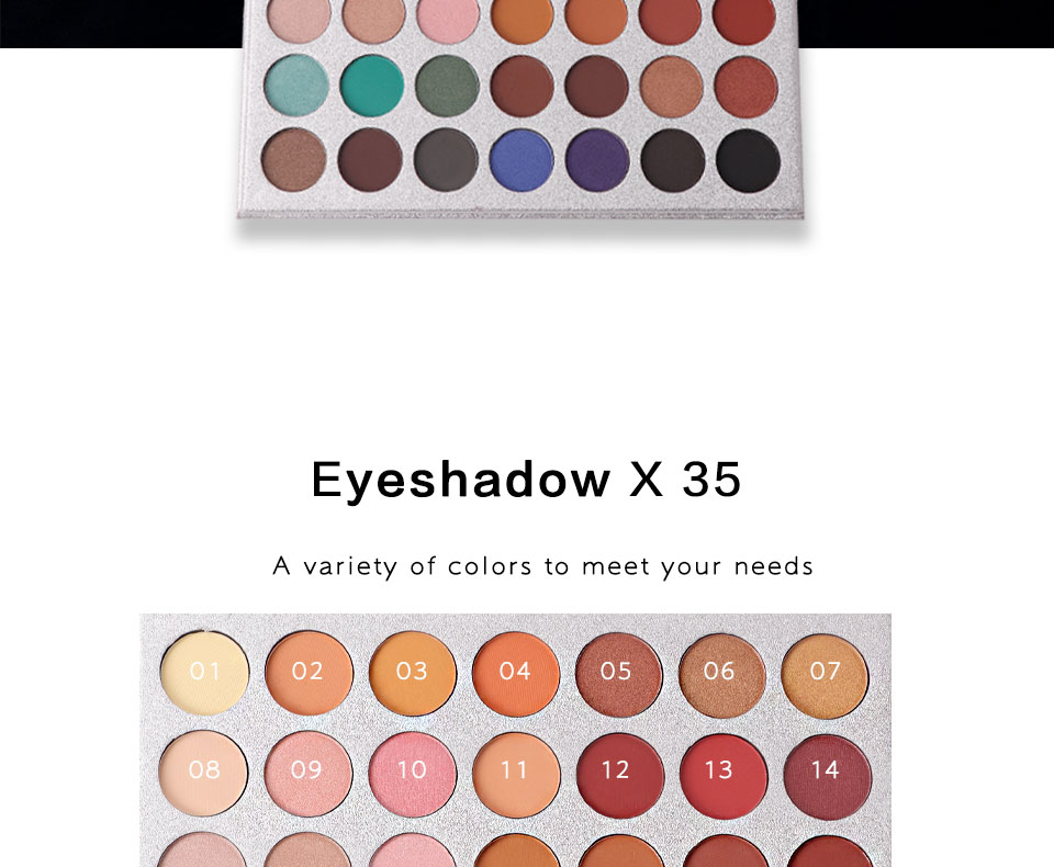 35 Color Eyeshadow Palette  (9)