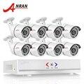 1080n anran 8ch hdmi dvr sistema de câmera de segurança 36ir cctv ahd camera set casa ao ar livre de vigilância de vídeo de 720 p 1800tvl kit